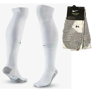 Nike Strike Knee High Soccer Socks Grip SX6938-100 White Mens 6-7.5 Womens 7.5-9