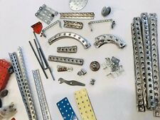 Vintage Gilbert Erector Misc Parts Lot Of over 100 Pieces with Instructions