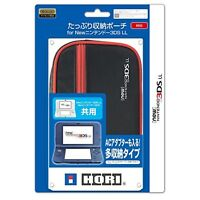 Hori Big Pouch Case Red for NEW Nintendo 3DS LL XL F/S w/Tracking# Japan New