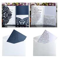 10PCS Laser Cut Wedding Invitations Card and Envelope High Quality Party Decor