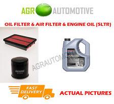 PETROL OIL AIR FILTER KIT + SS 10W40 OIL FOR MAZDA 323 1.6 98 BHP 2001-04