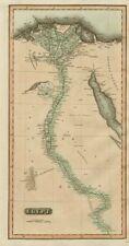 """""""Egipto"""". Valle del Nilo. Eyles Irwin de ruta de la India. Thomson 1817 Mapa Antiguo"""