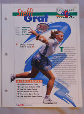 Steffi Graf #46 Tennis Champions Sports Heroes Booklet