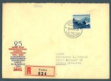 LIECHTENSTEIN - 1944 - Vedute diverse (4) - 1,50 fr. isolato su lettera - (MR)