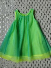 Cherokee Lime Green Sleeveless Mesh Dress Sz 4