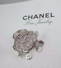 $24000 Chanel Large Comete/Baroque 18K Wg Diamond Charm Ring Bergdorf Saks