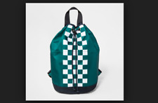 Boy's Checkered Art Class Green Backpack