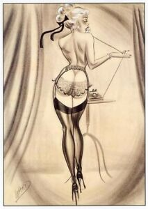 Bill Ward Vintage Pin-Up Lingerie 1 Comic Art Illustration Matted Gallery Print