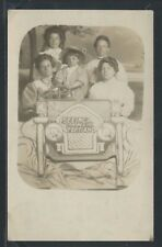 OR Portland RPPC 1910's MOTHER & CHILDREN in CAR at THE OAKS CARNIVAL by Hagar