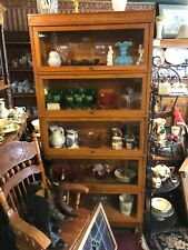 Globe Wernicke 5 Unit Antique Stacking Lawyer'S Oak Bookcase