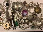 Job Lot Of Mixed Costume Jewellery Pendants For Jewellery Making