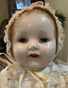 "21"" Antique Composition VANTA Baby AMBERG ~  Sleep Eyes"