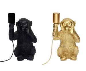 Tischlampe Affe E27 40 Watt Tischleuchte Monkey Design Tierlampe Äffchen Lampe
