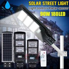 180000LM Commercial 90W LED Solar Street Light IP67 Dusk-to-Dawn Spot Lamp+Pole