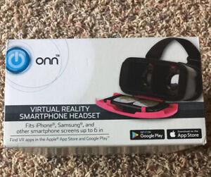 New! Onn VR Virtual Reality Smart Phone Headset. Pink
