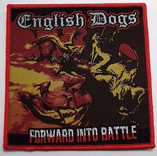 english dogs forward into battle WOVEN  PATCH