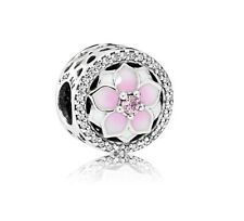 Authentic Pandora Magnolia Bloom Charm Bead 792085PCZ