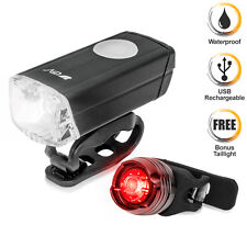 BV Bike Lights Waterproof USB Rechargeable Aluminum Headlight Taillight NEW L817