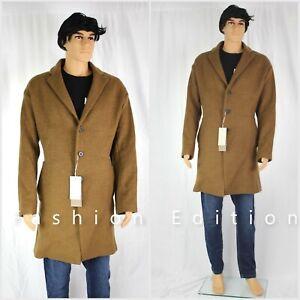 Zara Brown Long Wool Coat Size L RRP £129 Free P&P NEW