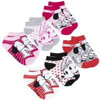 Disney Minnie Mickey Mouse Character Girls Ankle Trainer Socks 3-PACK Pairs Set