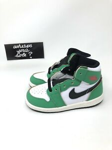 Nike Air Jordan 1 One Lucky Green Size 8c TD Toddler New DS CU0450-300