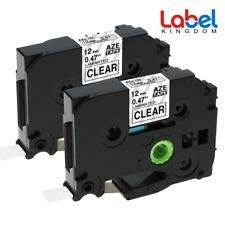 2Pk Compatible Label Maker Tape 12mm for Brother P-Touch TZ-131 TZe-131 PT-D210
