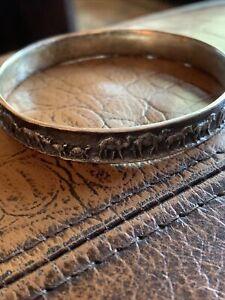 """James Avery Sterling Silver NOAH'S ARK Bangle Bracelet (Retired) 2.5"""""""