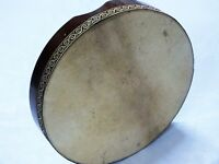 UNOSELL ::  41 x 7 cm  ANIMAL SKIN BENDIR TURKISH PERCUSSION  FRAME DRUM
