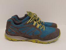 Merrell Verterra Blue Lime Green Trail Hiking Running Shoes Womens Size 11