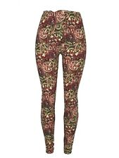 Paisleys & Flowers! Tall & Curvy Reds Greens Black TC Legging Pants Buttery Soft