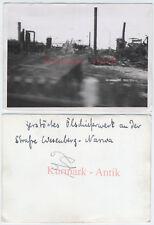 S390 Photo Wehrmacht Estonie SCHISTES BITUMINEUX usine Wesenberg Narwa Front ruine!