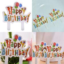 30pcs joyeux anniversaire Cupcake gâteau repas Topper douche Party Pick