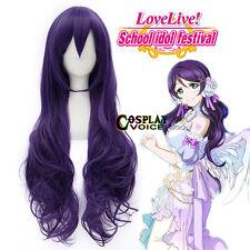 Love Live! Nozomi Tojo 70cm Long Wavy Purple Synthetic Women Anime Cosplay Wigs