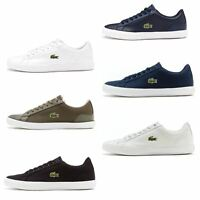 Lacoste Lerond BL 1 & 2 CAM & SPM Leather & Textile Trainers in All Sizes