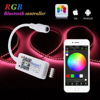 New LED RGB/RGBW Bluetooth Controller 5050 3528 Strip Light for iOS Android APP