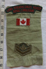 WW2 Military Lord Strathcona's Royal Canadians Cloth Shoulder Title Badges (69)