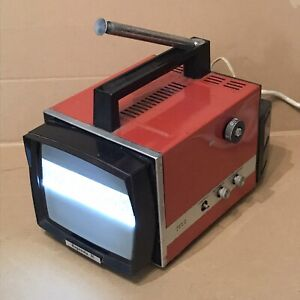 Vintage Rigonda M Portable TV - Black and White Television - Made In USSR