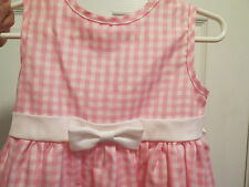 Perfectly Dressed pink gingham sleevless dress summer size 3t cool bow front