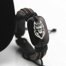 Lederarmband LEDER Armband Surferarmband Herren Männer Wolf Flechtarmband
