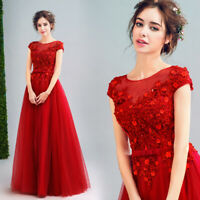 Noble Evening Formal Party Ball Gown Prom Bridesmaid Long Bead Dress TSJY226