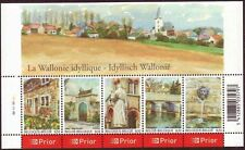 Belgium**WALLONIE VILLAGES-SHEET 5 stamps-FLOWERS-FOUNTAINS-Farmhouses-2006-MNH