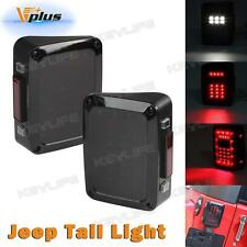 Smoked LED Reverse Tail Lights Brake Rear Turn signal Lamps For Jeep Wrangler JK