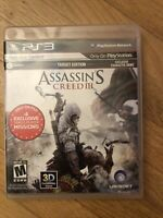 ASSASSIN'S CREED III ~ CIB ~ Complete (Sony PlayStation 3, PS3)