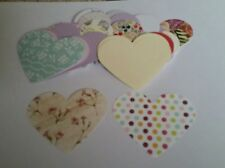 50 large heart punchies for Card making scrapbooking etc