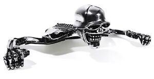Skull Ornament Skeleton Chrome Tail Light flat Harley Universal Custom