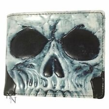 MENS MANS WALLET SKULL GOTHIC FOLDING VISA CARDS (not leather) LEATHERETTE NEW