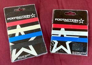 2002 Footaction USA Baller Bands Bracelets RED WHITE BLUE 3 Pack+ 4 Pack New