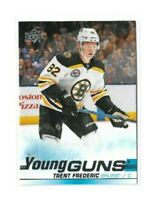 2019-20 UPPER DECK #472 TRENT FREDERIC YG RC UD YOUNG GUNS ROOKIE BRUINS