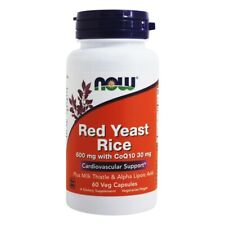 NOW Foods Red Rice Yeast & CoEnzyme Q-10 Formula, 60 Vegetarian Capsules