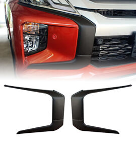 FIT MITSUBISHI L200 TRITON MR 19-2020 SIDE FRONT BUMPER COVER TRIM MATTE BLACK